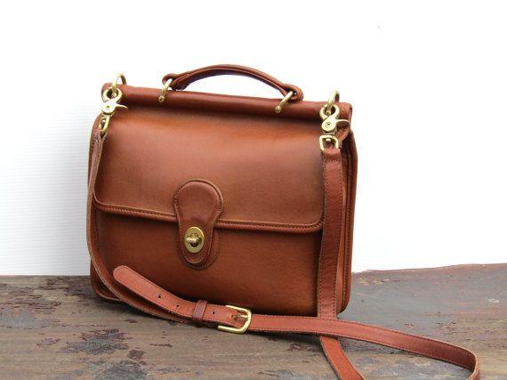 dc38f4cd4b567 Vintage Coach Willis Messenger Bag British Tan by FeelsFree ...