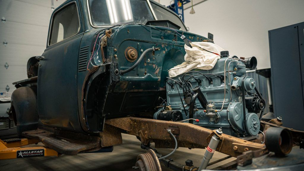 Putting The Engine Back In Our 1950 Chevy Pickup Redline Updates Hagerty Media In 2020 Chevy Pickups Chevy Engineering