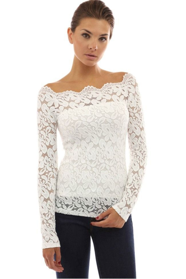 Love Song Lace Top  A little bit of lace goes a long way in the Love Song Lace  Top. A form fitting stretch lace top with scalloped floral stretch lace  trim ... a2ea85e4a128