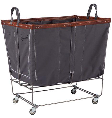 6 Bushel Canvas 3 Section Laundry Bin Laundry Bin Laundry Mud