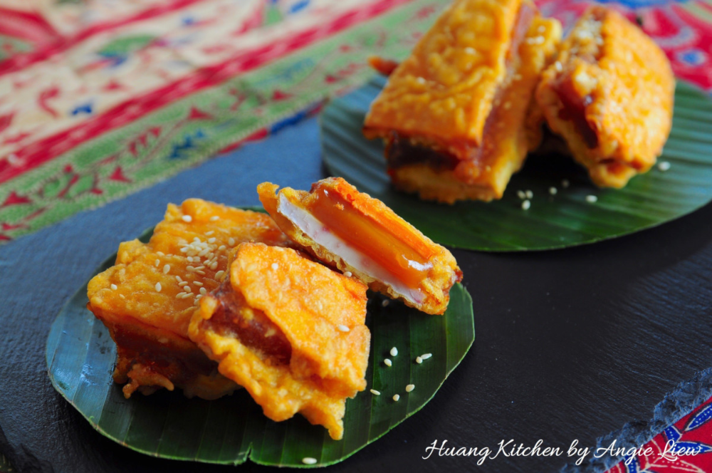 Fried Nian Gao Recipe Glutinous Rice Cake With Yam And Sweet Potato 炸年糕 Huang Kitchen Recipe Rice Cakes Nian Gao Recipe Nian Gao
