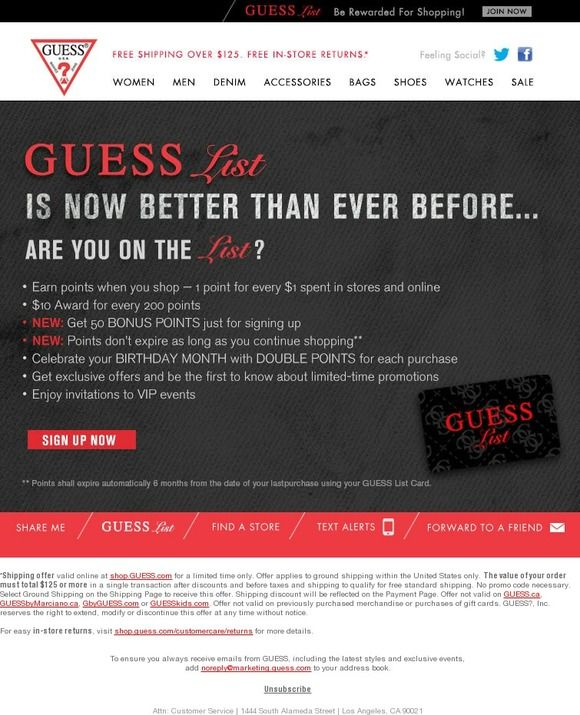 Are you on the List? Guess   Watch sale, Loyalty, Bag