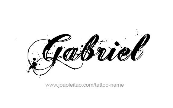 Gabriel Angel Name Tattoo Designs Name Tattoos Name Tattoo Name Tattoo Designs