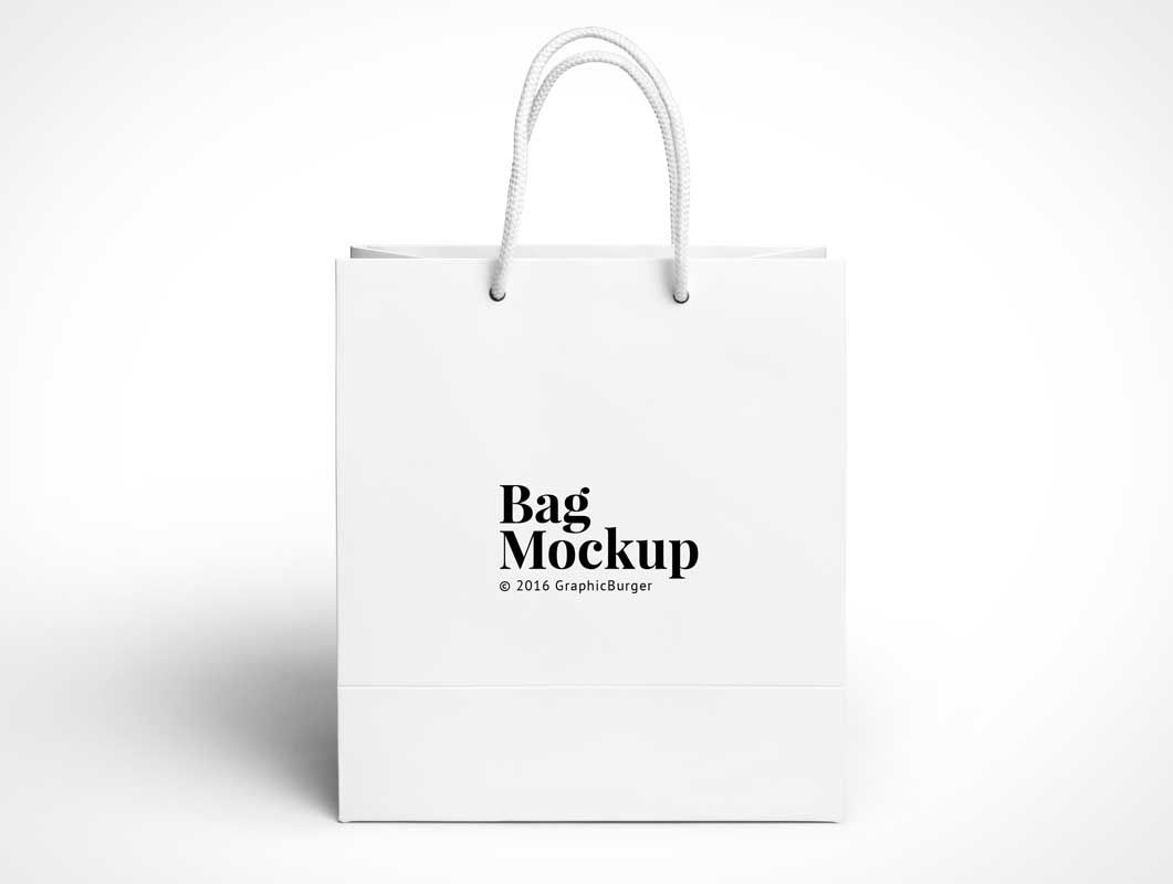 Download Boutique Paper Shopping Bag Psd Mockup With Rope Carry Handles Bag Mockup Paper Shopping Bag Bags