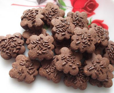 Biskut Badam Koko Resepi Mudah Dan Ringkas Resep Resep Kukis Coklat Kue Lebar
