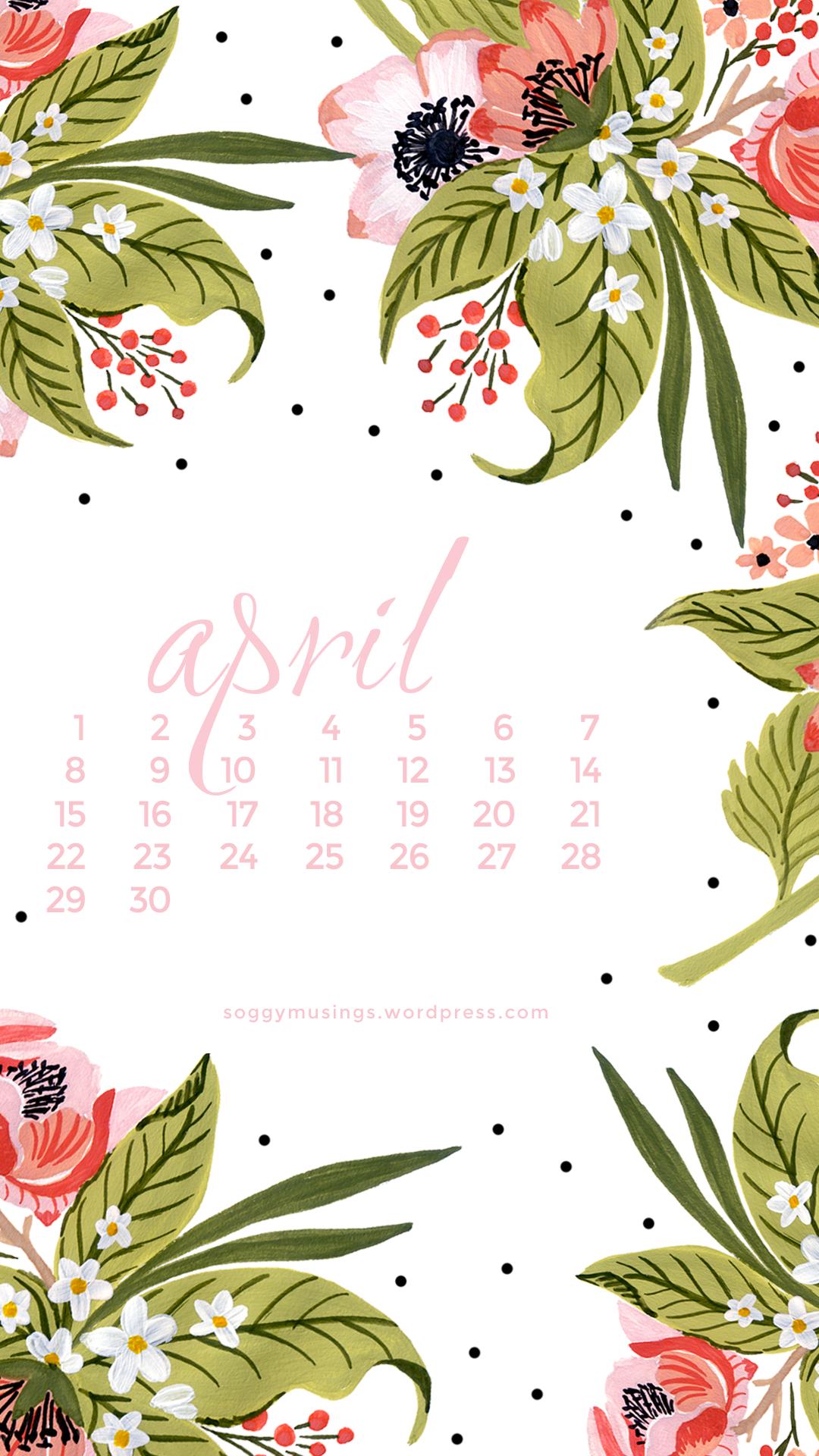 April 2017 Wallpaper Calendars