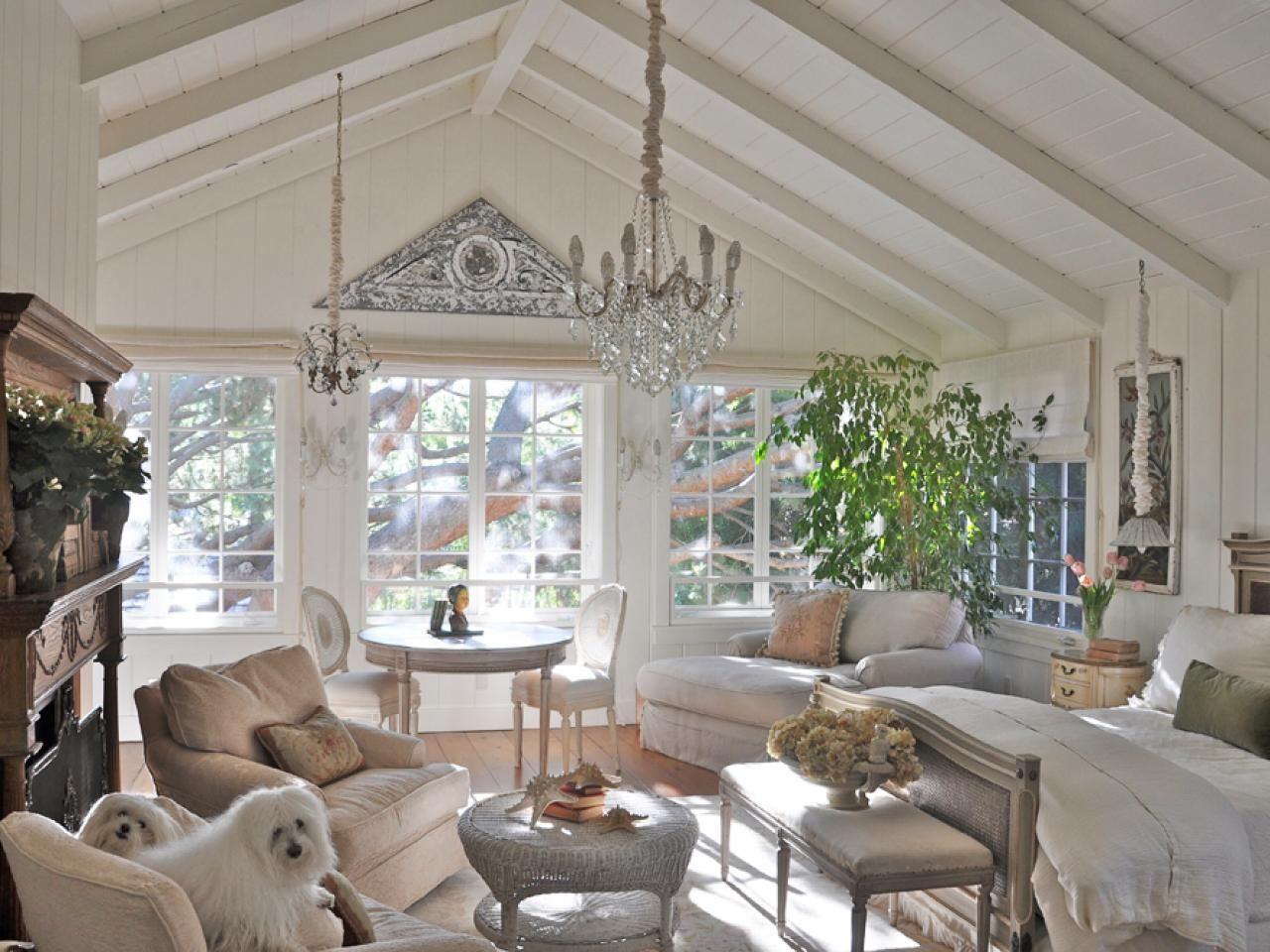 Cottage Decorating Ideas Wood CeilingsVaulted