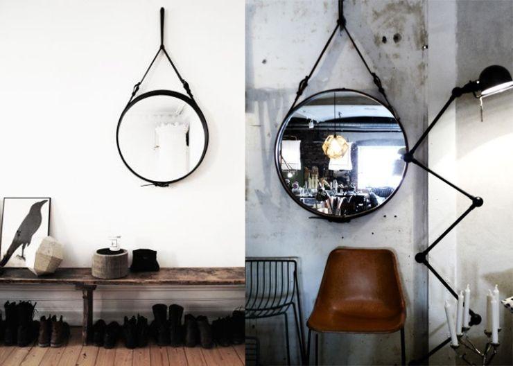 Zwarte Ronde Spiegel : Ronde zwarte spiegel trendy ronde spiegel badkamer badkamer