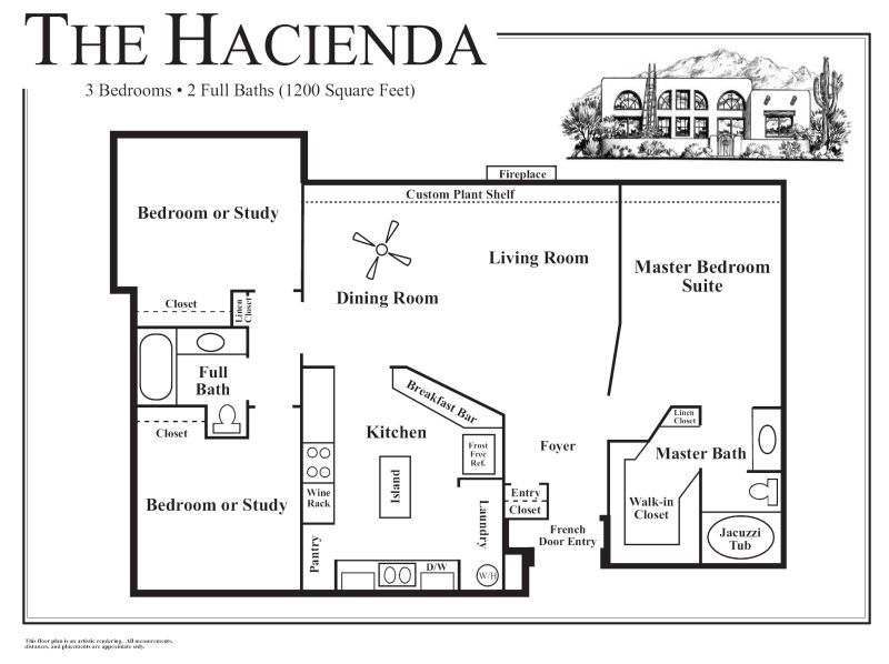 Mexican house plans with courtyard hacienda style house for Hacienda floor plans with courtyard
