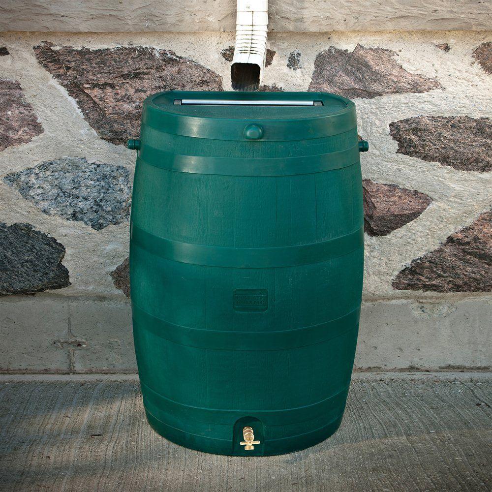 5510 000 Flatback Rain Barrel With Brass Spigot Rain Barrel Renovation Hardware Work Accessories
