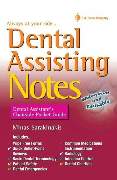 A Daviss Notes Book Rely On This Handy Pocket Guide To Quickly Reference The Must Know Information You Dental Assistant Study Dental Assistant Dental Charting
