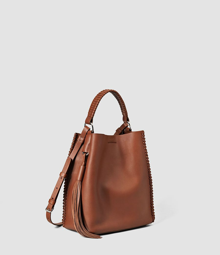 Womens Pearl Mini Hobo Bag (BRICK BROWN ...