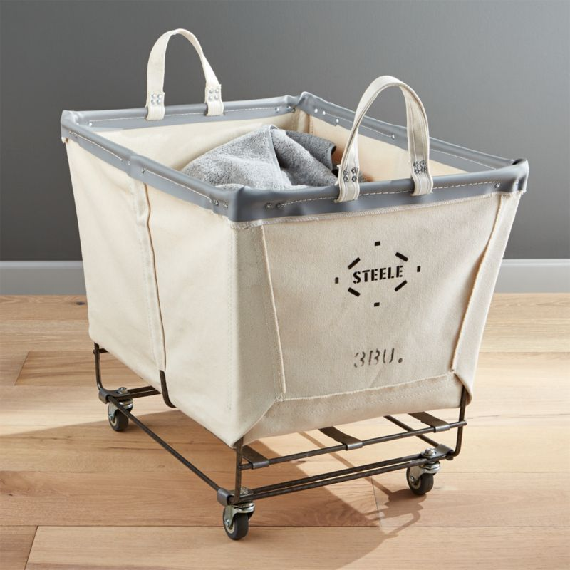Shop Steele Rolling Laundry Basket Transform The Laundry Room