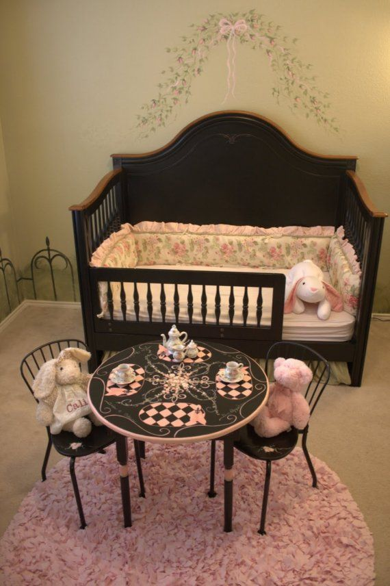 Children\u0027s Tea Table and Chair Set Hand Painted by JudyRueDesigns $299.99 & Children\u0027s Tea Table and Chair Set Hand Painted by JudyRueDesigns ...