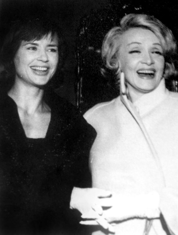 Marlene Dietrich and Harriet Andersson, Stockholm, 1963