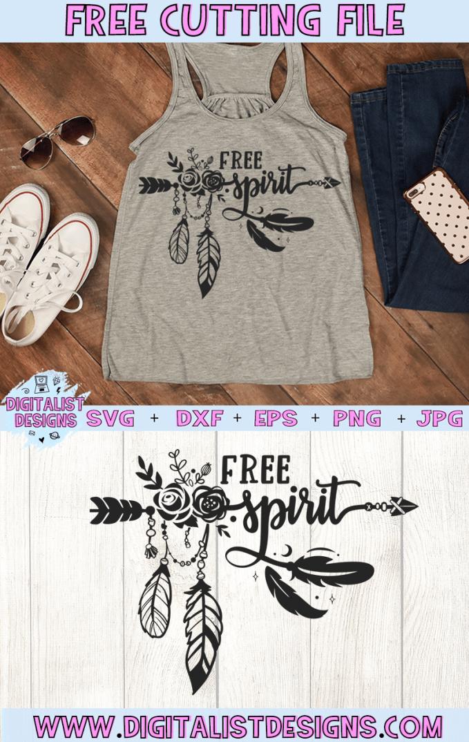Photo of Free Boho Free Spirit SVG | DigitalistDesigns