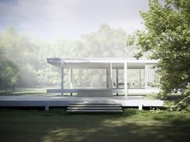 Renderings of Mies van der Rohe's Farnsworth House by Peter Guthrie | SpaceInvading
