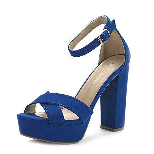 224872f93fd DREAM PAIRS HI-GO New Women s Evening Dress Ankle Strap Buckle Peep Toe  Chunky High