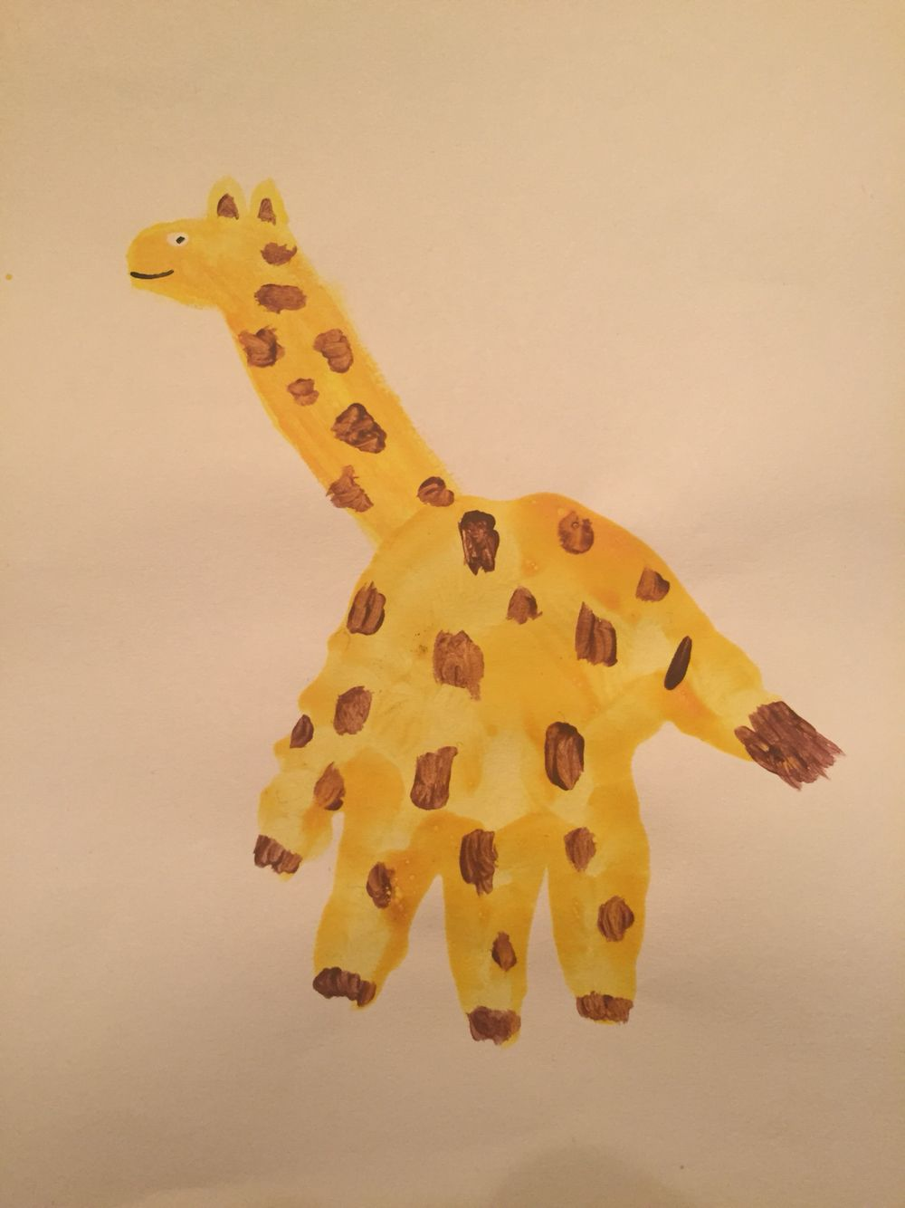 Giraffe Handprint Circus animals, Dinosaur stuffed