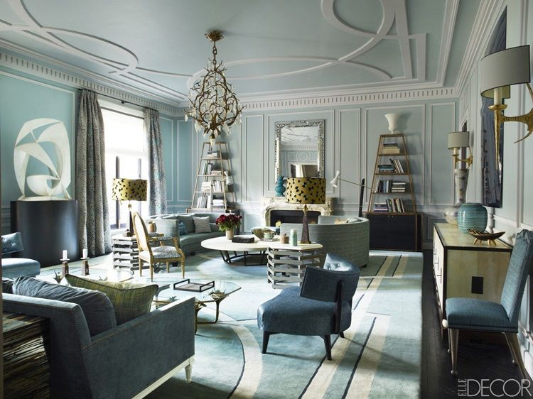 Home Tour Bold Opulent in Paris Elle dcor Luxury interior