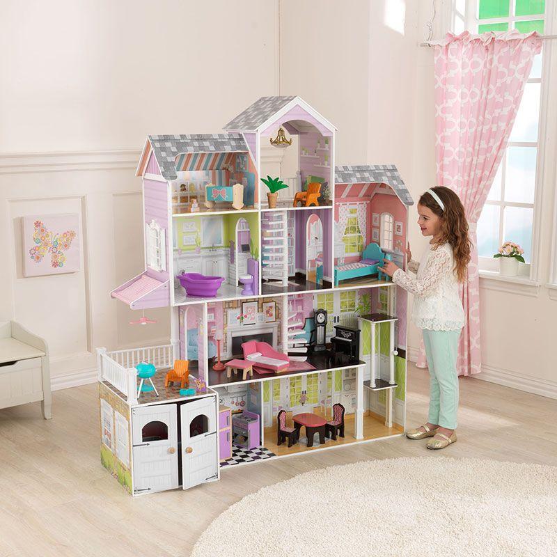 KidKraft Grand Estate Dollhouse + 26 Pieces Of Furniture