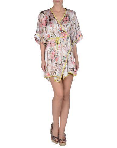 ¡Cómpralo ya!. TWIN-SET SIMONA BARBIERI Vestido de playa mujer. raso, sin aplicaciones, estampado floral, cierre con cordones , sin bolsillo , vestidoinformal, casual, informales, informal, day, kleidcasual, vestidoinformal, robeinformelle, vestitoinformale, día. Vestido informal  de mujer color rosa de TWIN-SET SIMONA BARBIERI.