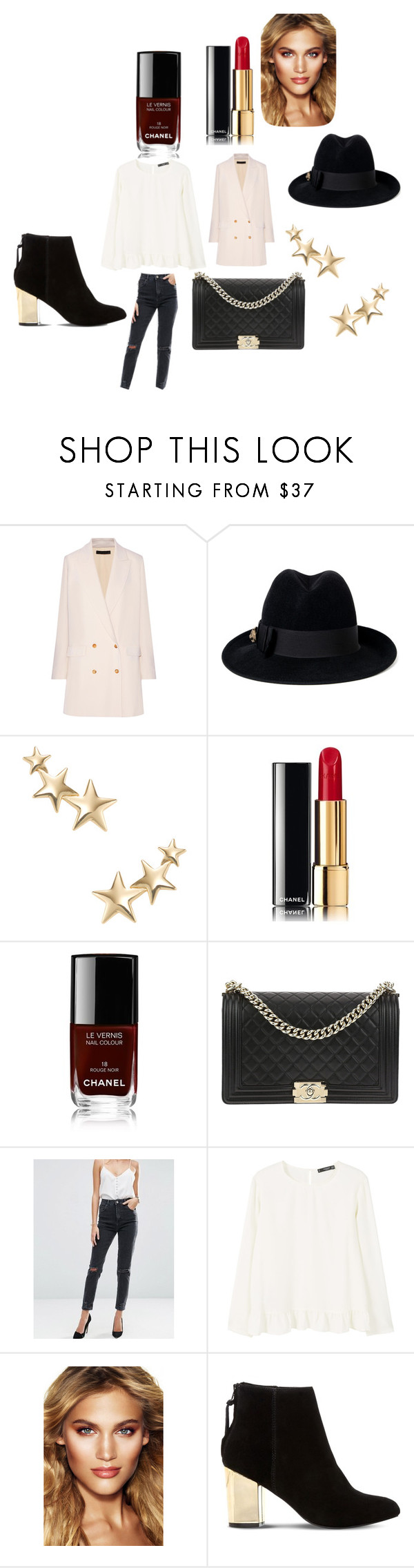 """""""Untitled #1251"""" by alessiaaaaaaaaa ❤ liked on Polyvore featuring The Row, Gucci, Kenneth Jay Lane, Chanel, ASOS, MANGO, Charlotte Tilbury and Steve Madden"""
