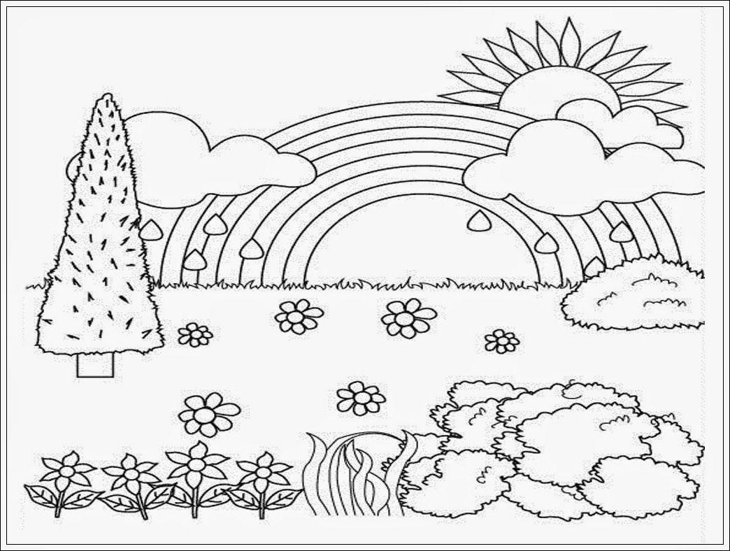 Gambar Mewarnai Pemandangan Dari Anakcemerlangcom Caloring Page