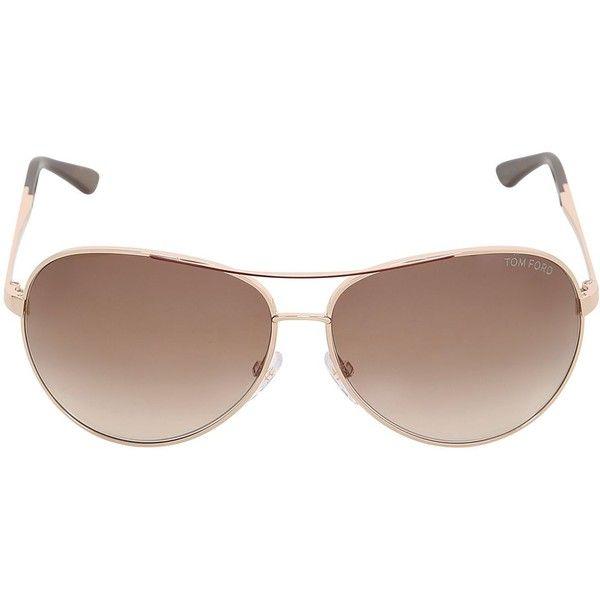 Tom Ford Women Charles Round Aviator Sunglasses