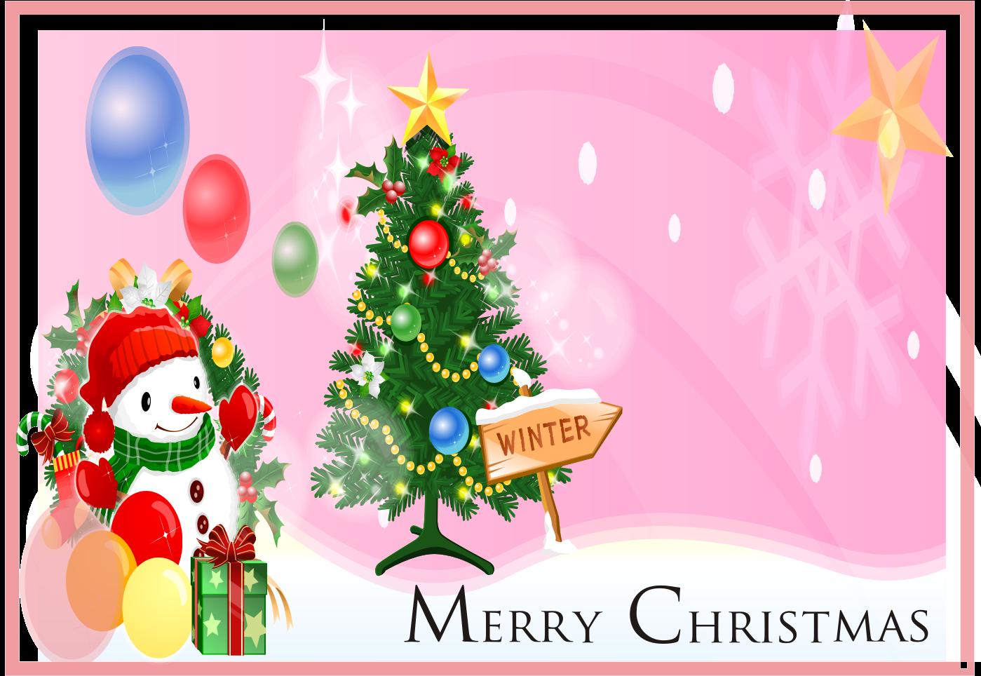 Download Kartu Natal 2017 Cdr Tema Pink Snow Kartu Natal Selamat Natal Hari Natal
