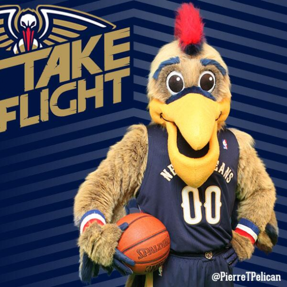 Pierre The Pelican Mascot New Orleans Pelicans Basketball Pictures