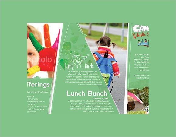 Preschool Brochure Template Sample design Pinterest Brochure - sample preschool brochure