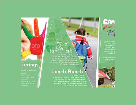 Preschool Brochure Template Sample | design | Pinterest | Brochure ...