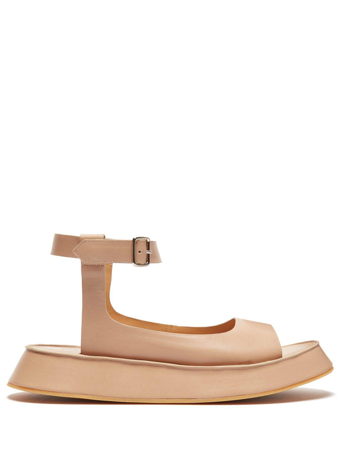 a0a19f9aee Leather flatform sandals | Jil Sander | MATCHESFASHION.COM US ...