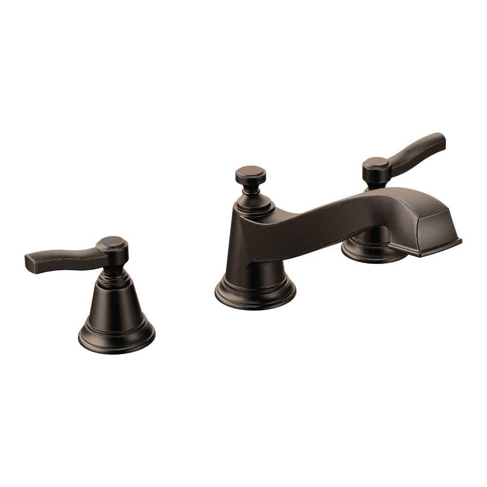 MOEN Rothbury 2-Handle Low-Arc Roman Tub Faucet Trim Kit in Oil ...