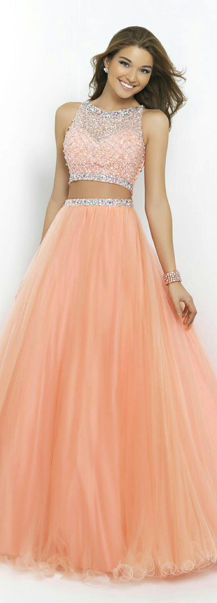 Women S 2 Piece Prom Gown In Light Apricot Www Lovingsdresses Com Cute Prom Dresses Piece Prom Dress Princess Prom Dresses [ 2048 x 738 Pixel ]