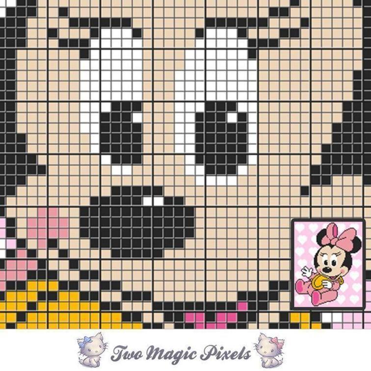 Baby Minnie C2C Crochet Graph | crochet | Pinterest | Para bebes ...