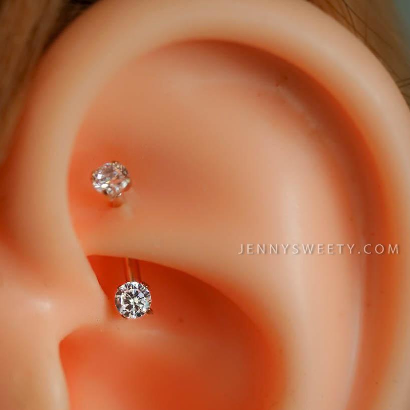 Daith Earring Daith Piercing 16g Rook Earring Rook Piercing Eyebrow Ring Snug Piercing Rose Gold Curved Bar 6mm 8mm Rook Earring Daith Earrings Rook Piercing Jewelry