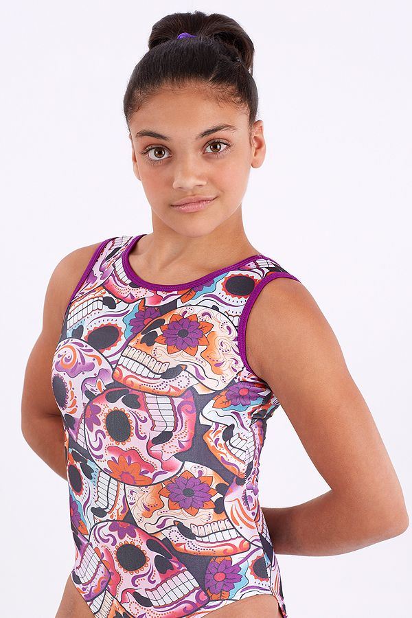 Sugar Skulls--  Super soft spandex with a hard rock print. Scary never looked so good!