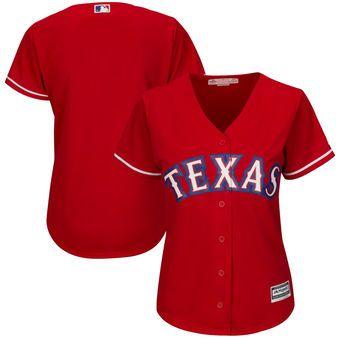 Texas Rangers Majestic Women S Alternate Cool Base Replica Team Jersey Scarlet Texas Rangers Team Jersey Texas Rangers Gear