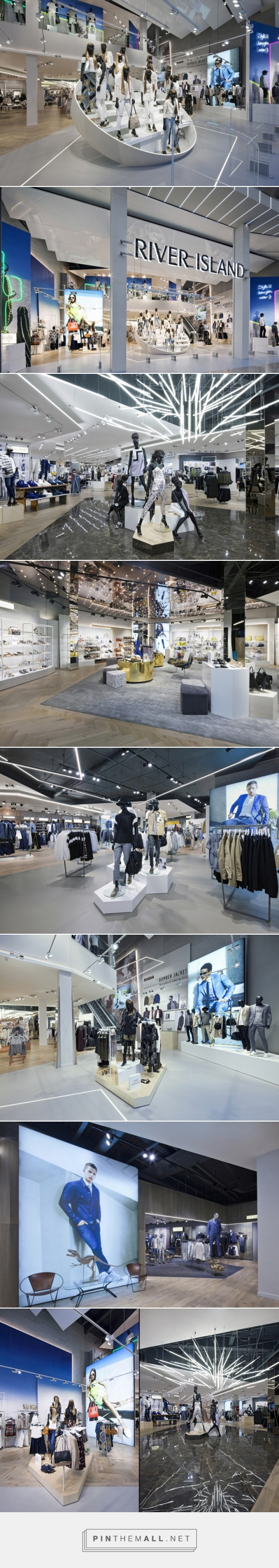 River Island Flagship Store by Dalziel and Pow, Birmingham – UK » Retail Design Blog... - a grouped images picture - Pin Them All