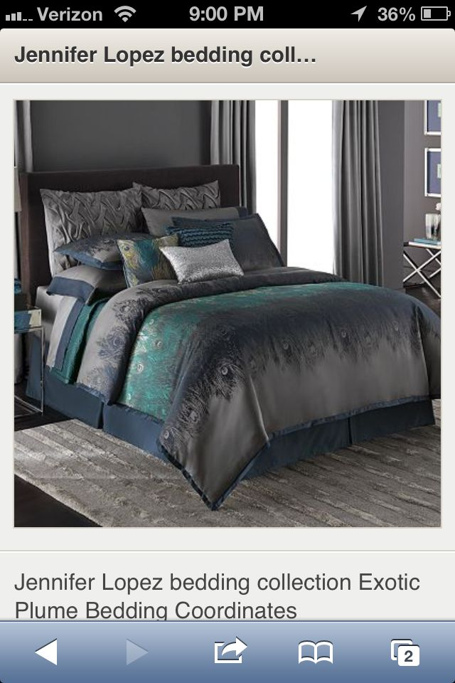 Jennifer Lopez Peacock Bedding 3 Home