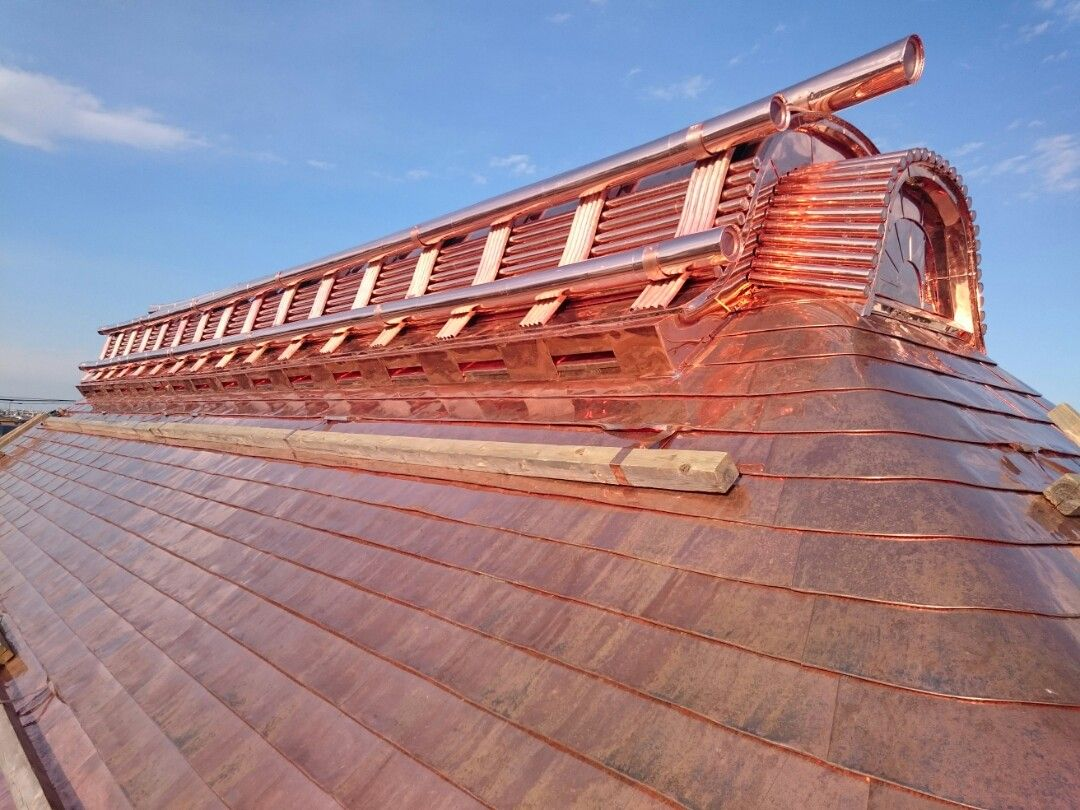 Copper Sheet Roofing Metal Roof Construction Copper In Architecture Copper Roof