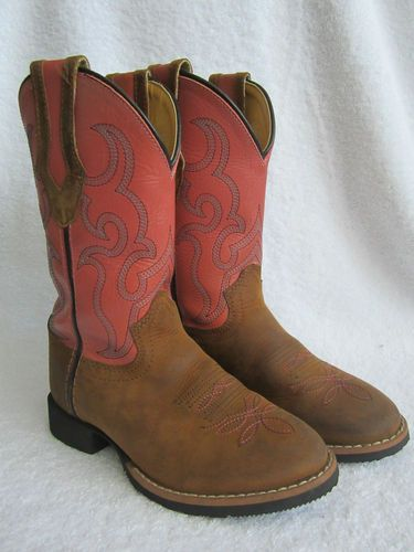cda37d921fa Details about Smartfit Girls Cowboy Boots Pink Brown Western Cowgirl ...