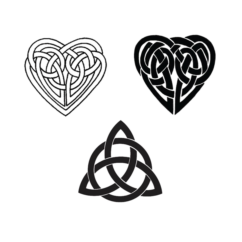 Delphi Black Enamel Celtic Decal Assortment
