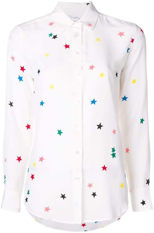 e8c9645028a2fe Equipment Essential Star-print Silk Crepe De Chine Shir