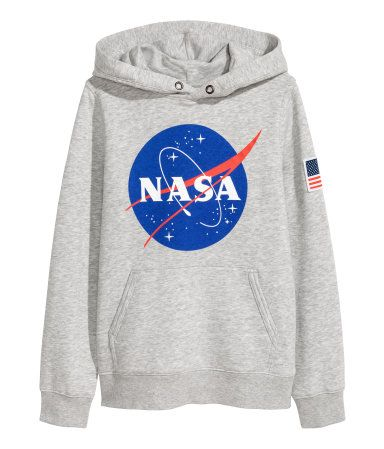 4c761ea4a34f Printed Hooded Sweatshirt