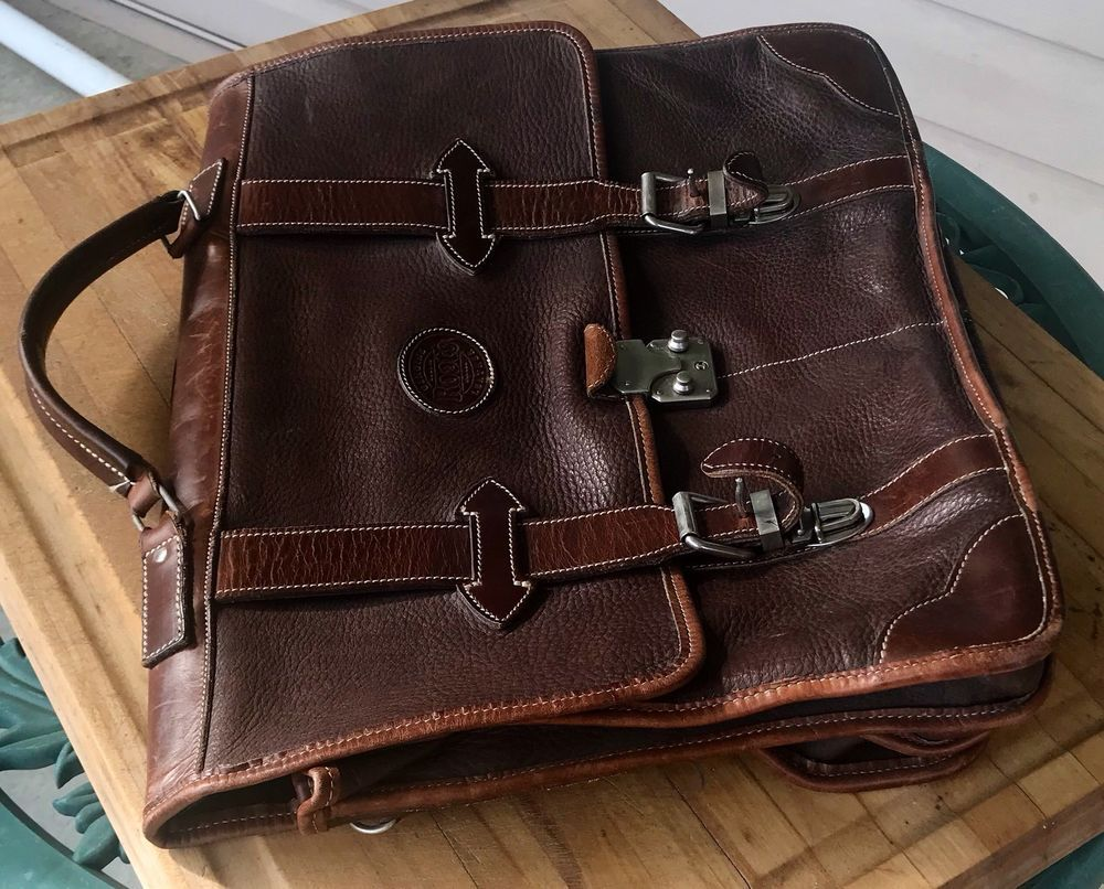9a1edbd8e1 Vintage Roots Leather Satchel Brief Case Brown Carryall in 2018 ...