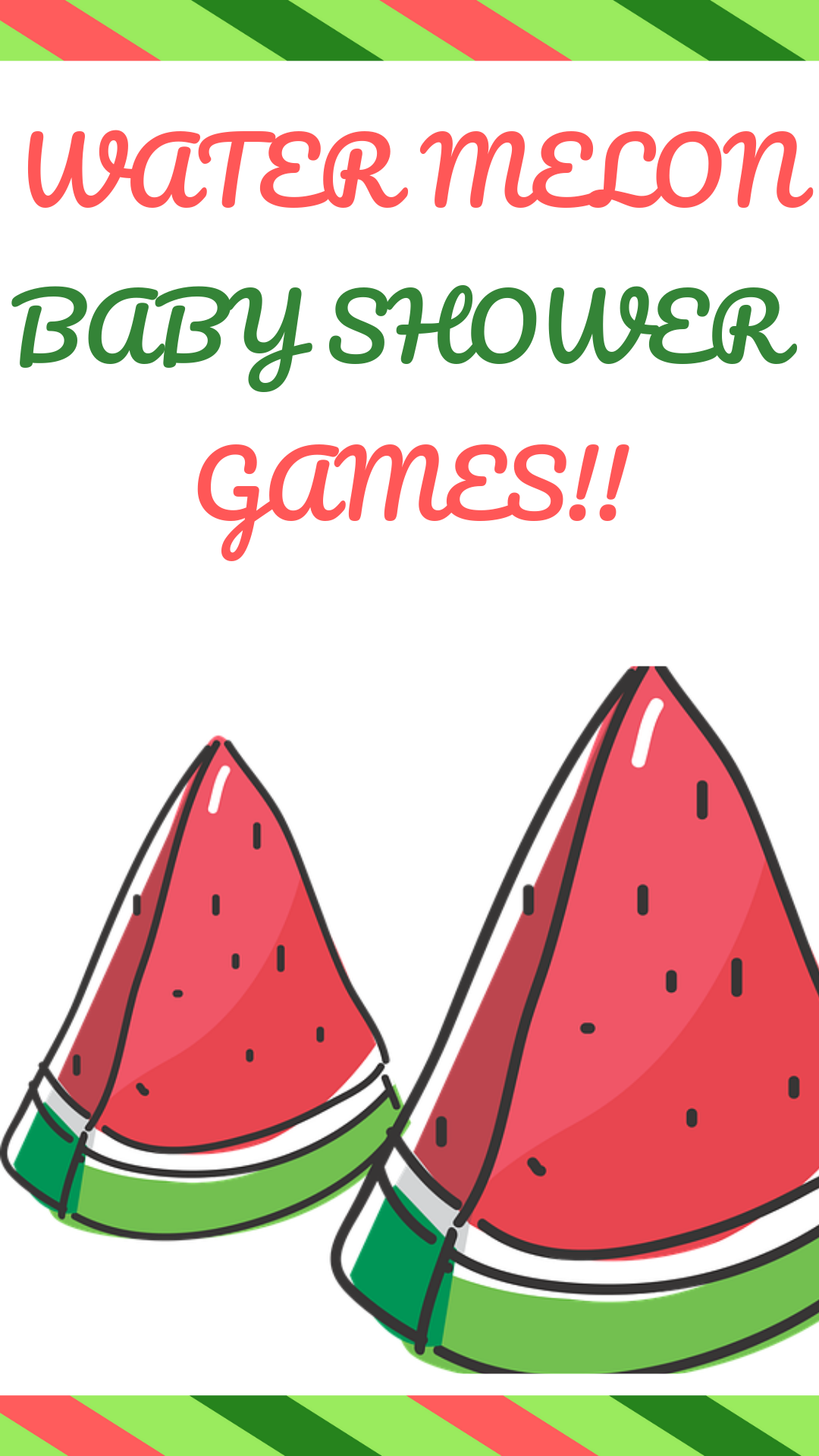 Watermelon Baby Shower Games And Decorations