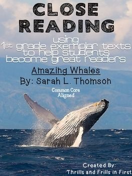 Close Reading With Amazing Whales